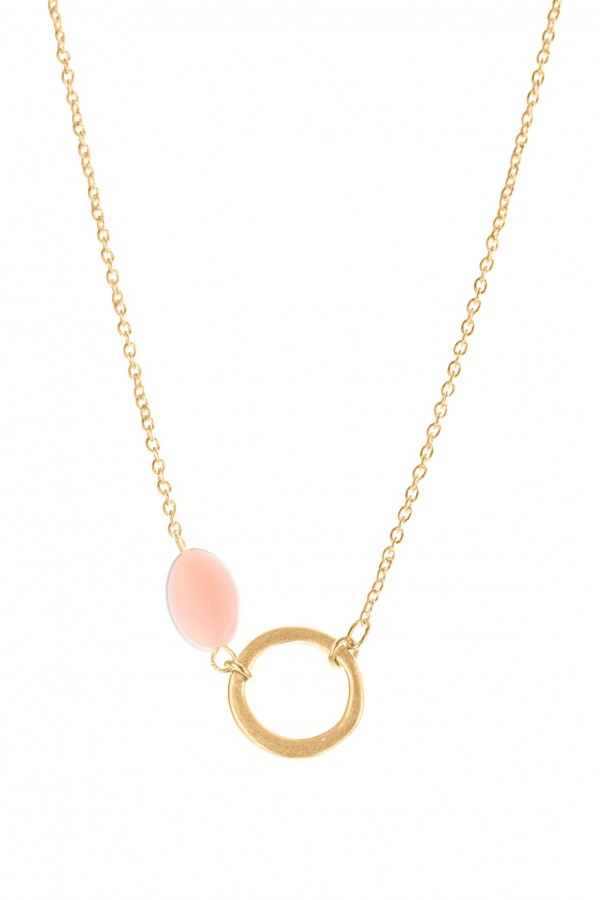 Circle & Candy Necklace
