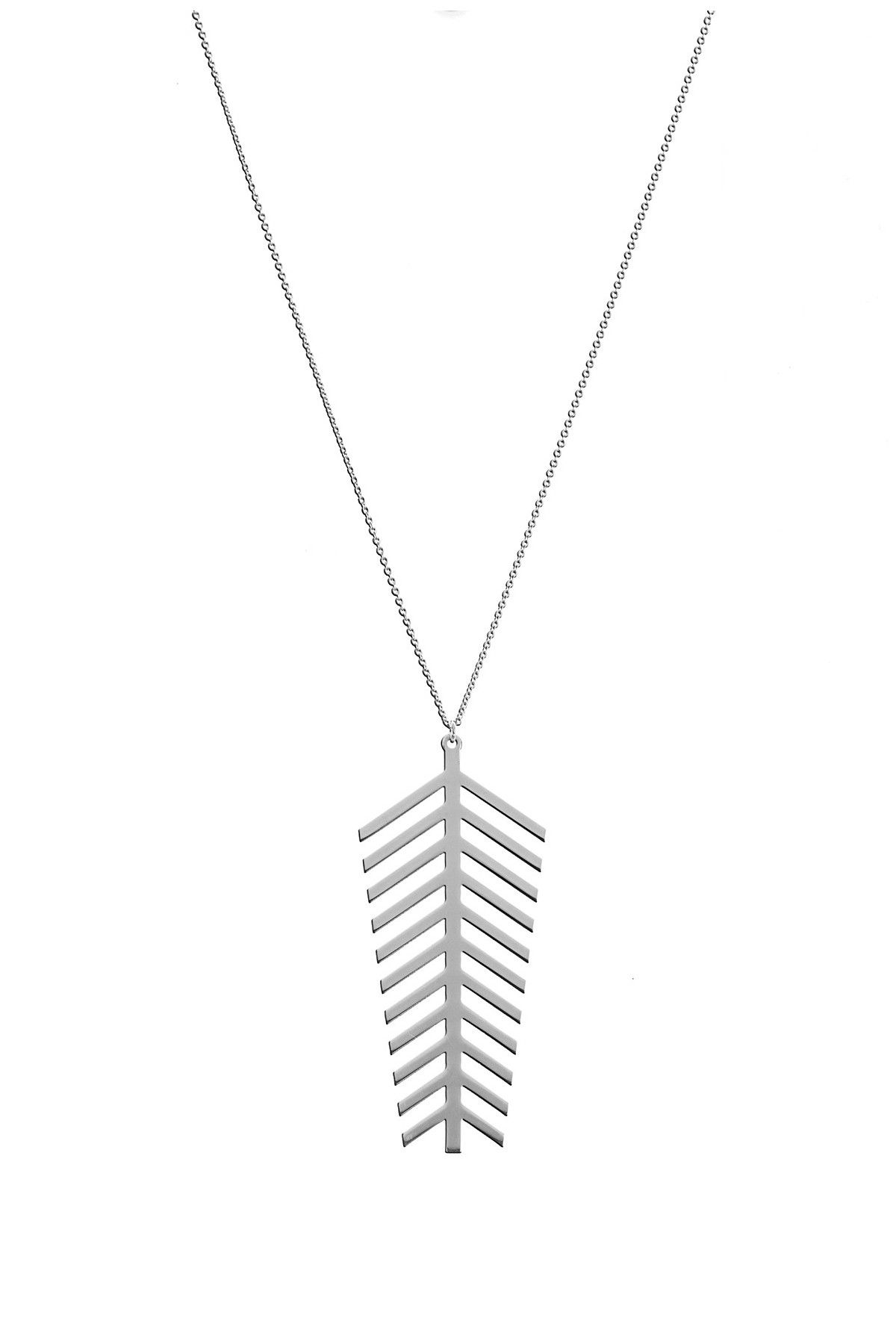 Big Leaf Silver Necklace