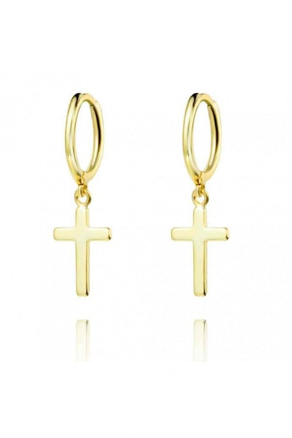 Hoop & Cross Earrings