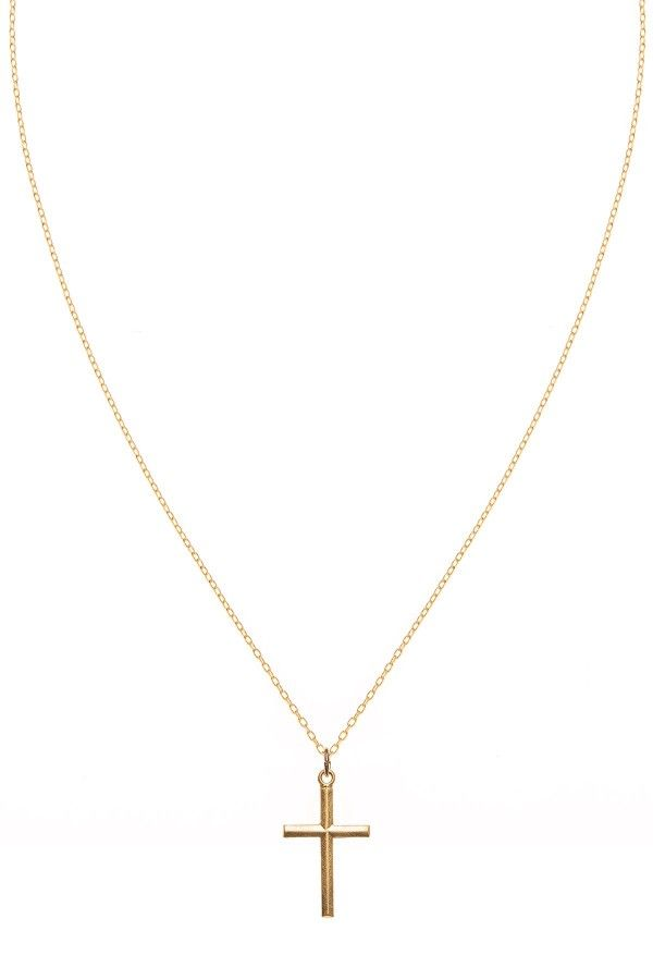 Simple Cross Necklace