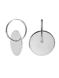 AMULETTO SILVER EARRINGS