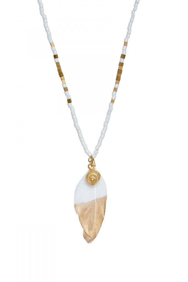 Golden Feather Necklace