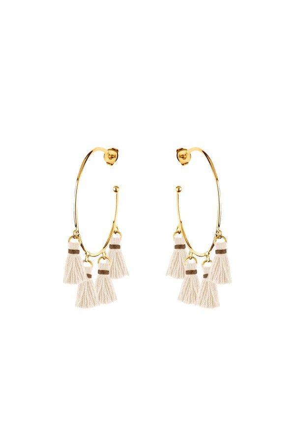 XL Tassel Hoops