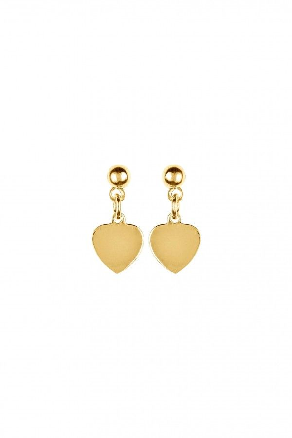 Golden Heart Earrings