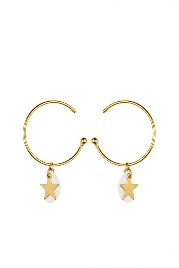 MOONLIGHT STAR HOOPS