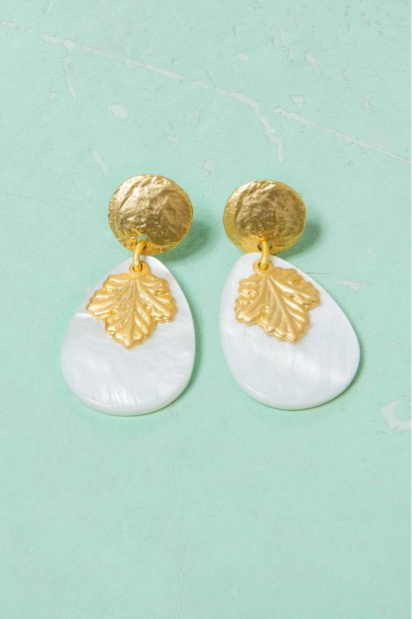 Golden Leaf Earrings
