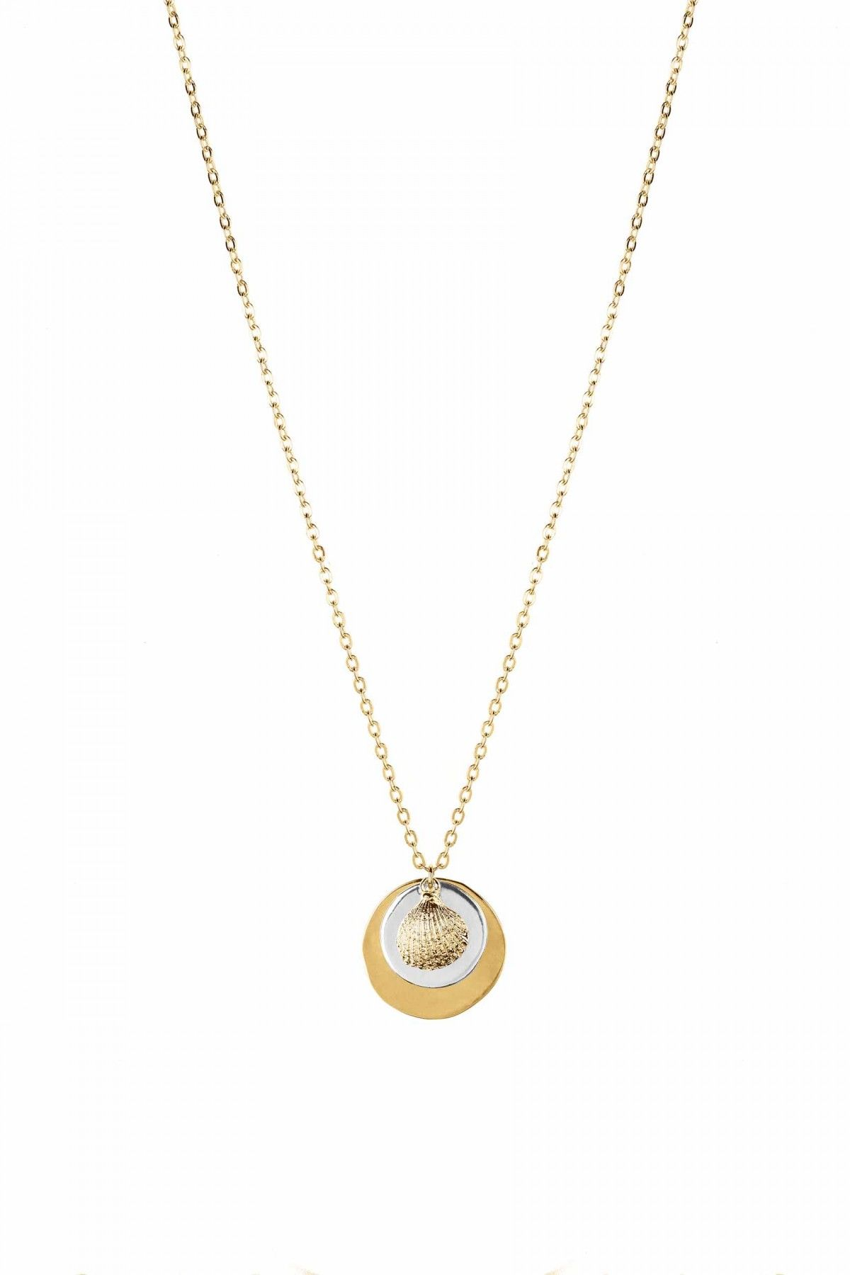 Circles & Oyster Necklace