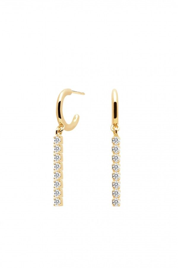 NAOMI GOLD EARRINGS - P D PAOLA