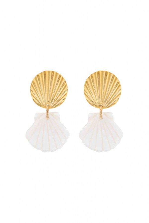 Sunshine Shell Earrings