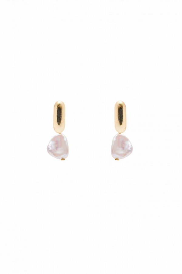 Nugget Pearl Earrings