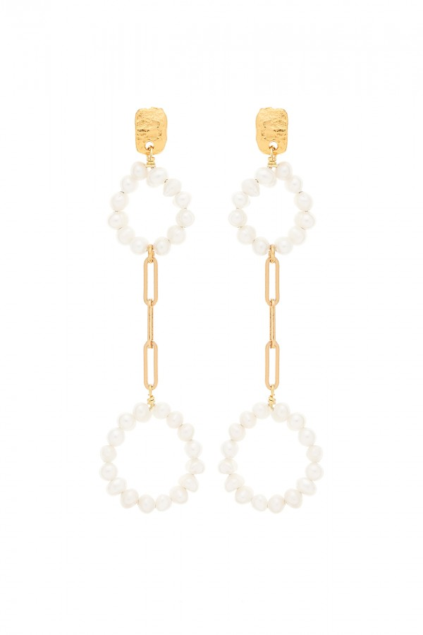 Pendientes Pearly Circle Double