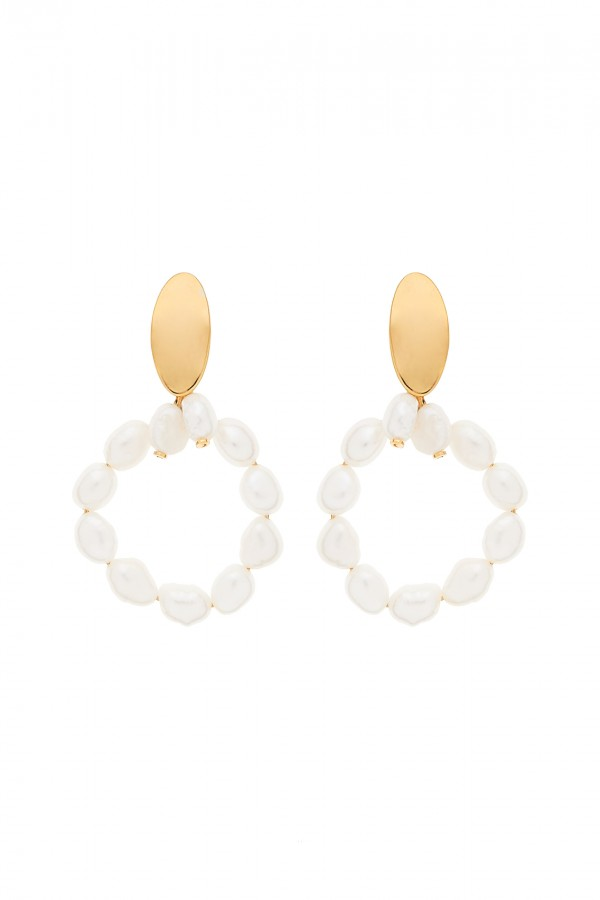Pendientes Pearly Circle XL