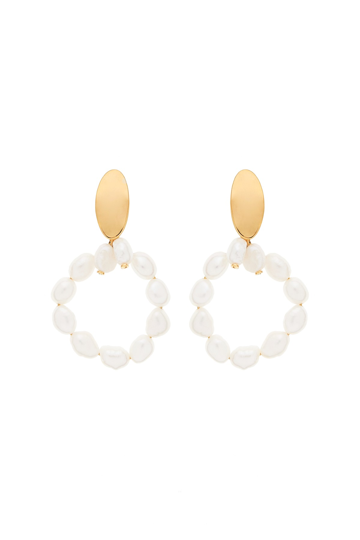 Pearly Circle XL Earrings